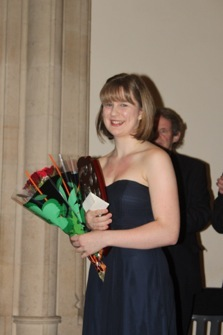 Jacqueline Martens with the Chandos prize 2012