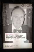 Poster for Michael Kennedy Memorial Concert