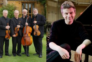 Mark Bebbington piano, Coull Quartet visiting Malvern Concert Club 15 March 18