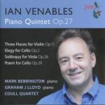 CD Cover of Ian Venables' Piano Quintet by Coull Quartet and Mark Bebbington