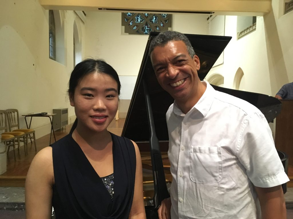 Adelaide Yue with Roddy Williams  at the Malvern Concert Club AGM 2017
