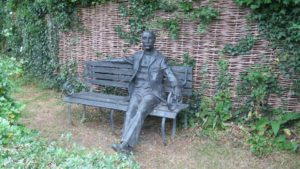 Edward Elgar on his bench