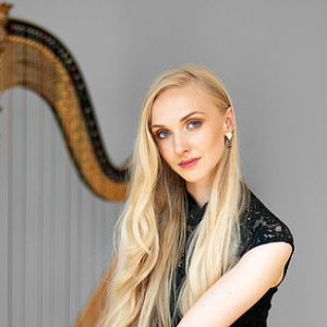 Elizabeth Bass - harpist who is playing at Malvern Concert Club 12th April 2019