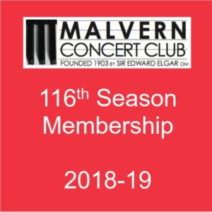 Malvern Concert Club - buy membership for 2018-19