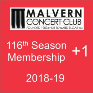 Membership of Malvern Concert Club plus one ticket for the Sunday afternoon concert