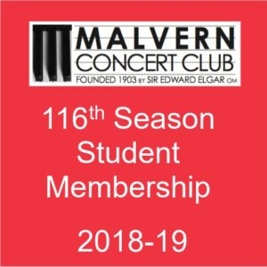 Student membership of Malvern Concert Club