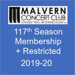 Membership of Malvern Concert club for 2019-20 plus Restricted View ticket for Feb concert
