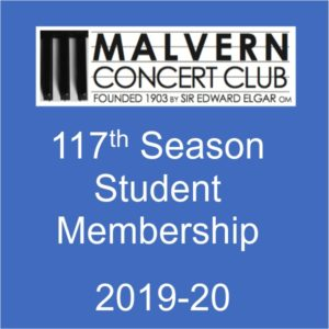 Student membership of Malvern Concert club for 2019-20