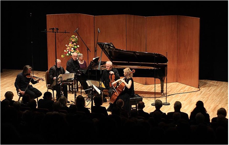The Brodsky Quartet and Martin Roscoe performing at Malvern Concert Club on May 2nd 2019